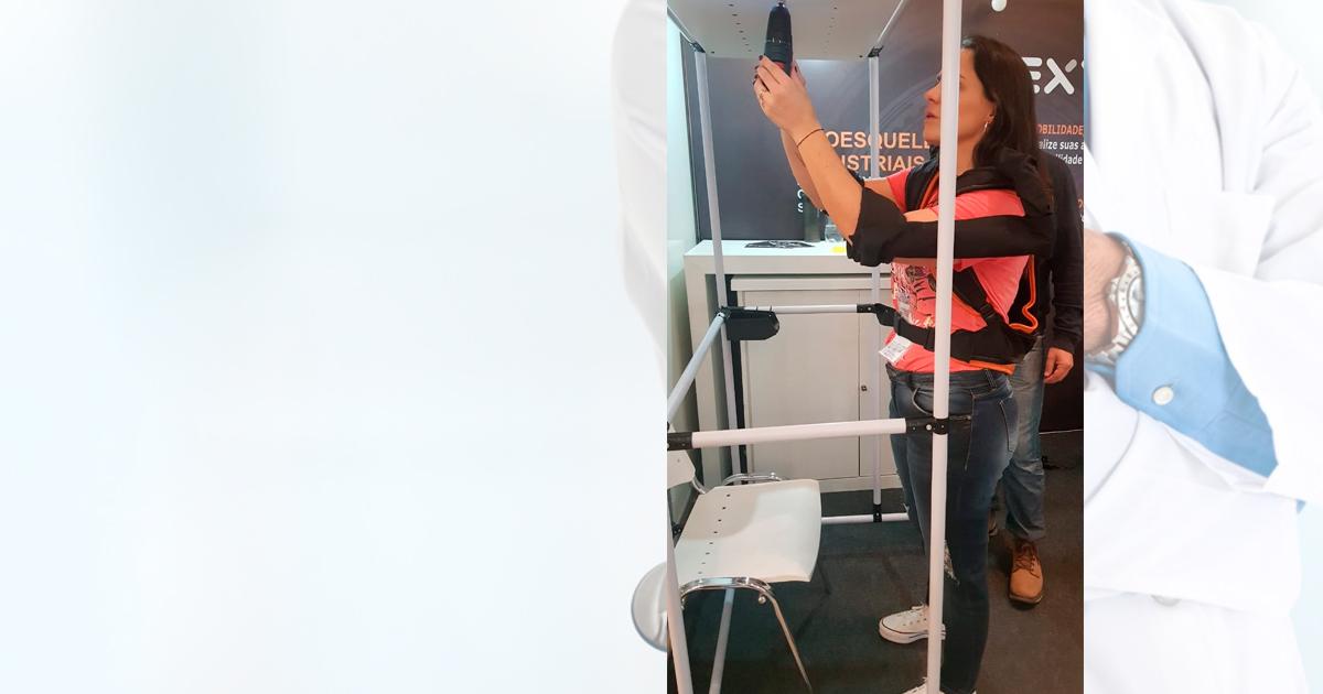 Exoesqueleto, roupa projetada e construída para ambientes de trabalho